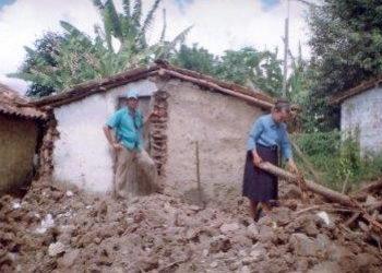 Sister Reginalda at a demolished slum site