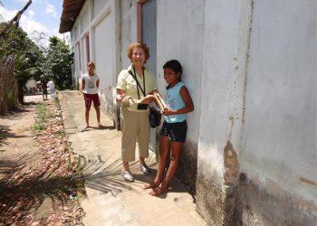 Antonieta na Vila Santa Luzia.