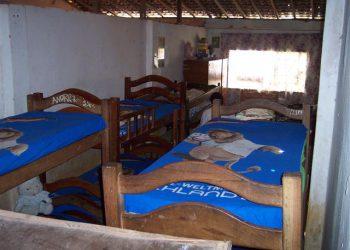 Dormitório - IVH acolhe crianças de zero a 18 anos.